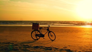 Old Bicycle Sunset Beach Wallpapers