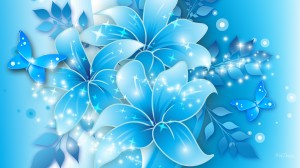 Smooth Blue Floral Backgrounds Wallpaper